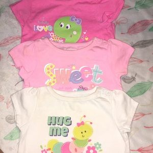 Baby girl shirt bundle